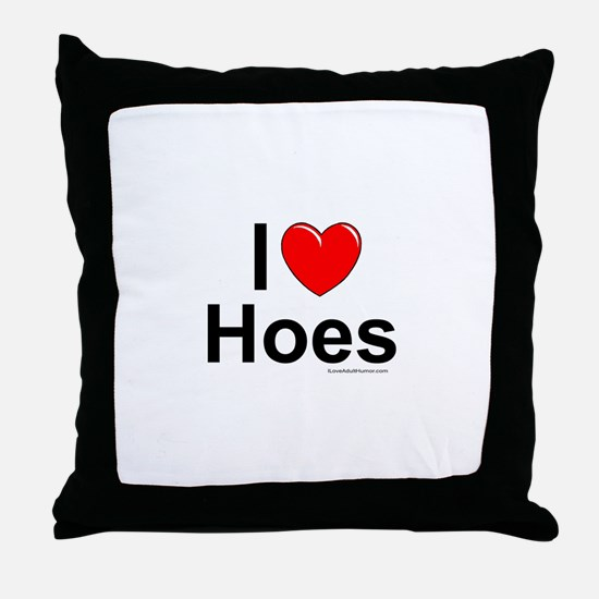 Hoes Throw Pillow