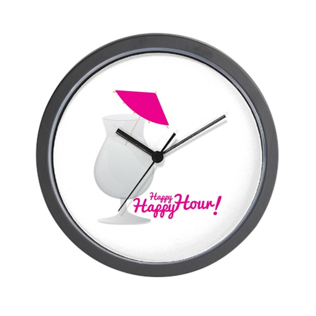 Happy Hour Wall Clock by Windmill34