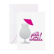 Pina Coladas Greeting Cards