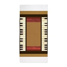 Piano Keys Frame Border music for 3x5 gold Beach T