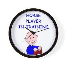 Funny Plays horses Wall Clock