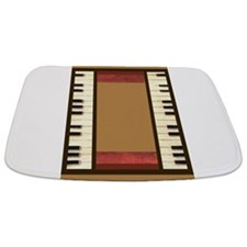 Piano Keys Frame Border music for 5x7 gold Bathmat