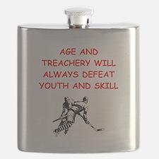 i love hockey Flask