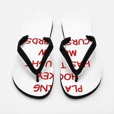 i love hockey Flip Flops