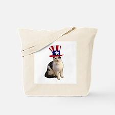 Uncle Sam Cat Tote Bag