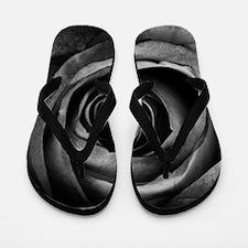 Black Rose Flip Flops