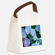 Blue Hydrangea Canvas Lunch Bag