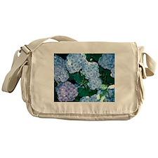 Blue Hydrangea Messenger Bag