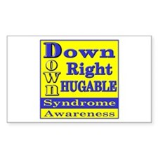 Down Right Hugable Rectangle Decal