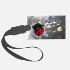 Standard Poodle Backpacking Luggage Tag