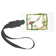 Red ruffed lemur in the forest Luggage Tag