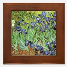 Irises by Vincent van Gogh Framed Tile