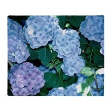 Blue Hydrangea Throw Blanket