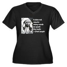 Unique Indian Women's Plus Size V-Neck Dark T-Shirt