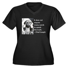 Cute Chief joseph Women's Plus Size V-Neck Dark T-Shirt