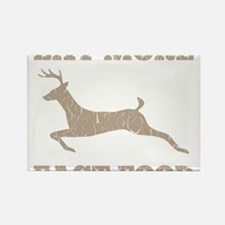 Cute Deer hunting Rectangle Magnet