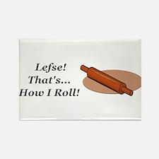Lefse How I Roll Rectangle Magnet