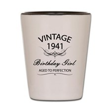 Vintage 1941 Birthday Girl Aged To Perf Shot Glass