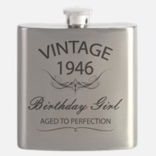Vintage 1946 Birthday Girl Aged To Perfectio Flask
