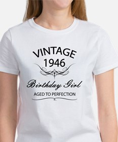 Vintage 1946 Birthday Girl Aged To Tee