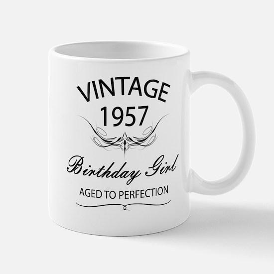 Vintage 1957 Birthday Girl Aged To Perf Mug
