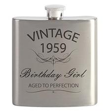Vintage 1959 Birthday Girl Aged To Perfectio Flask