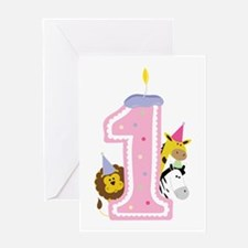 1 Birthday Candle Greeting Cards