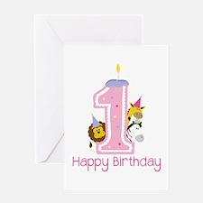 1 Happy Birthday Greeting Cards