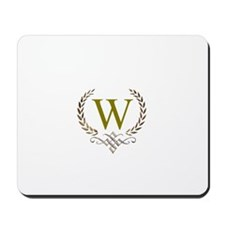 Gold Monogram with Laurels Mousepad