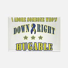 Down Right Hugable Rectangle Magnet