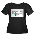 Live Like Your Life Depended Women's Plus Size Sc