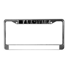 Black Rose License Plate Frame