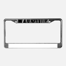 Black Rose License Plate Frame