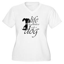 Life is bette Plus Size T-Shirt