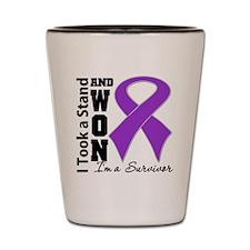 Won Pancreatic Cancer Shot Glass