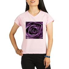 Purple Rose Decorative Flo Performance Dry T-Shirt