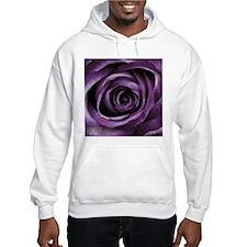 Purple Rose Decorative Flower Hoodie