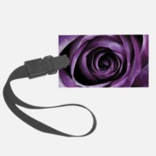 Purple Rose Decorative Flower Luggage Tag