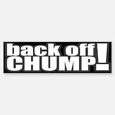 Back Off Bumper Bumper Bumper Sticker