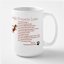 Beagle Property Laws Large Mug Mugs