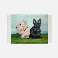 Cute Scotties Rectangle Magnet
