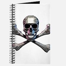 Chrome Skull and CrossBones Journal