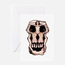 Women Skull Illusion Greeting Card