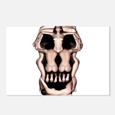 Women Skull Illusion Postcards (Package of 8)