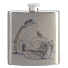 English Bulldog Flask