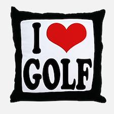 I Love Golf Throw Pillow