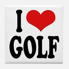 I Love Golf Tile Coaster