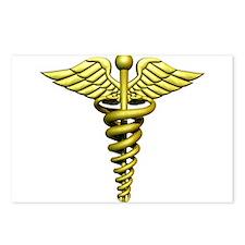 Golden Medical Symbol Postcards (Package of 8)
