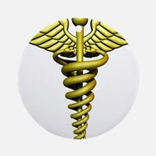 Golden Medical Symbol Ornament (Round)