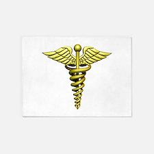 Golden Medical Symbol 5'x7'Area Rug